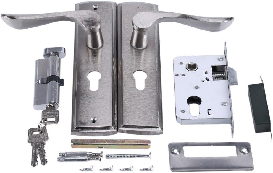 Puerta de aluminio duradera Cerradura de la manija Cilindro Delantero Trasero Palanca Cerradura Seguridad para el hogar con llaves