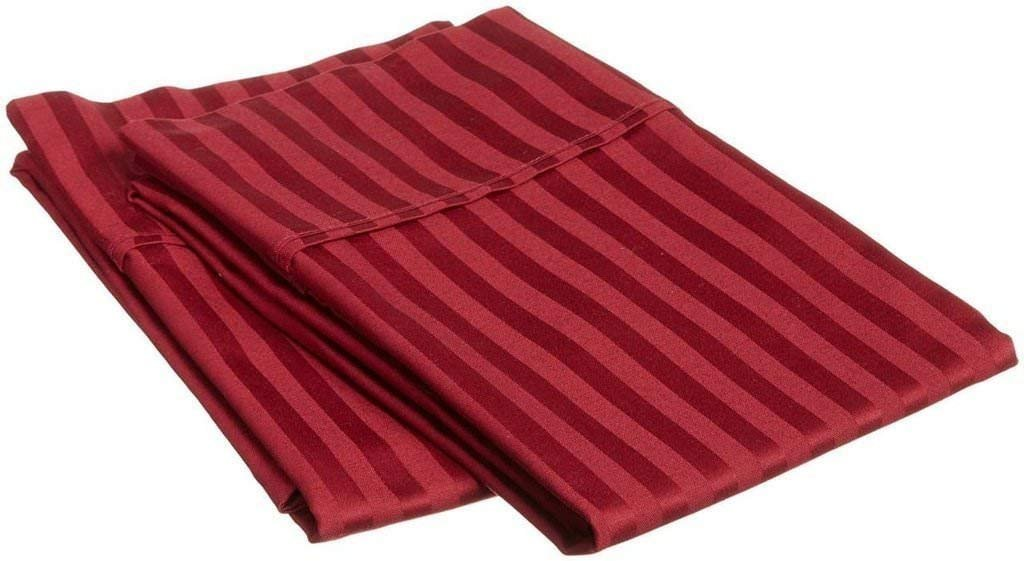 Soft 100/% Cotton 400 Thread Count Solid Set of 2 Pillowcovers Pillowcases Standard, Burgundy