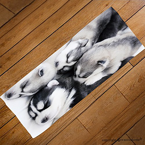 VROSELV Custom Towel Soft and Comfortable Beach Towel-Siberian husky puppies_ Design Hand Towel Bath Towels For Home Outdoor Travel Use 27.6