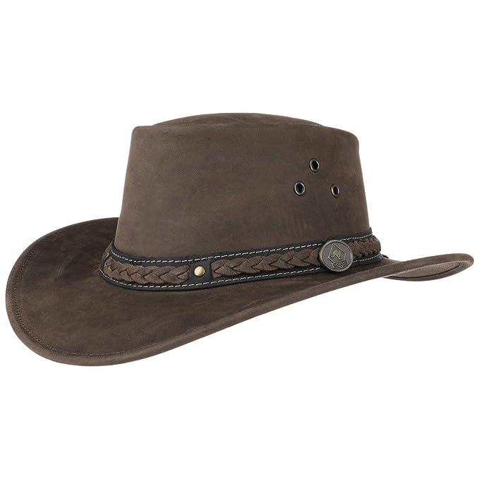 Scippis Sombrero de Piel Albury Stonewashed outdoor (S (54-55 cm) - marrón)   Amazon.es  Ropa y accesorios cca29c8014c