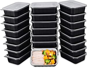 OTOR 25 Sets Meal Prep Containers 24 oz Airtight Lids Food Storage Container Stackable Reusable Bento Boxes Travel Containers BPA Free Dishwasher,Microwave,Freezer Safe