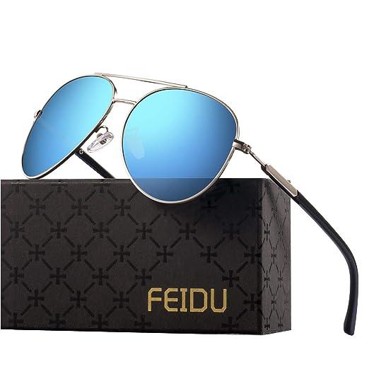 695b50453c Polarized Aviator Sunglasses for Men – FEIDU Fashion Aviator Sunglasses  Mens Womens Unisex UV 400 Protection