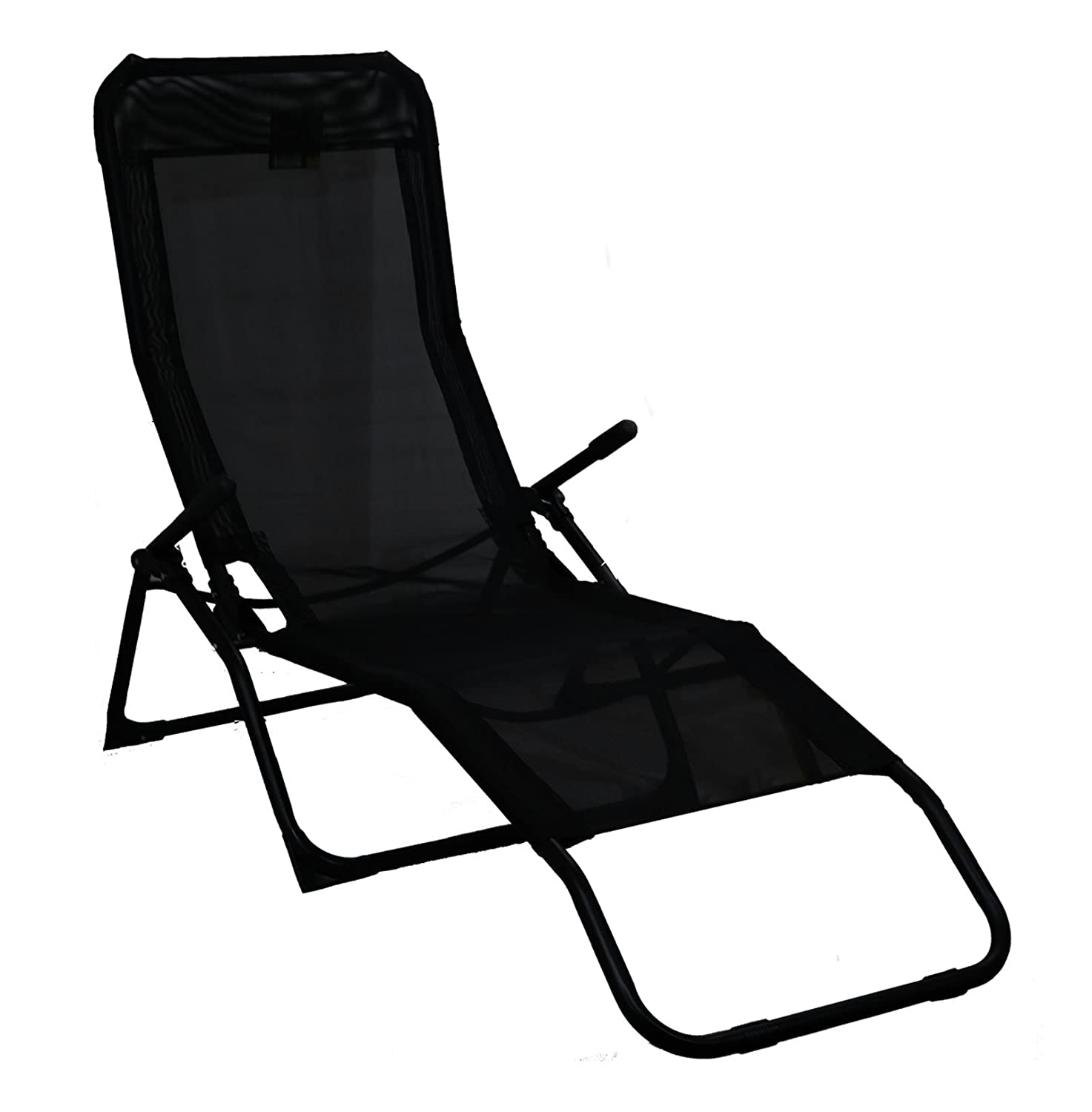 Rocker Lounger Black Sun Chair Recliner Outdoor Garden Furniture