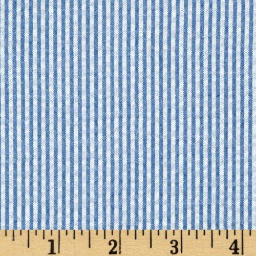 (Robert Kaufman Kaufman Classic Seersucker Stripe Navy & White Fabric By The Yard)