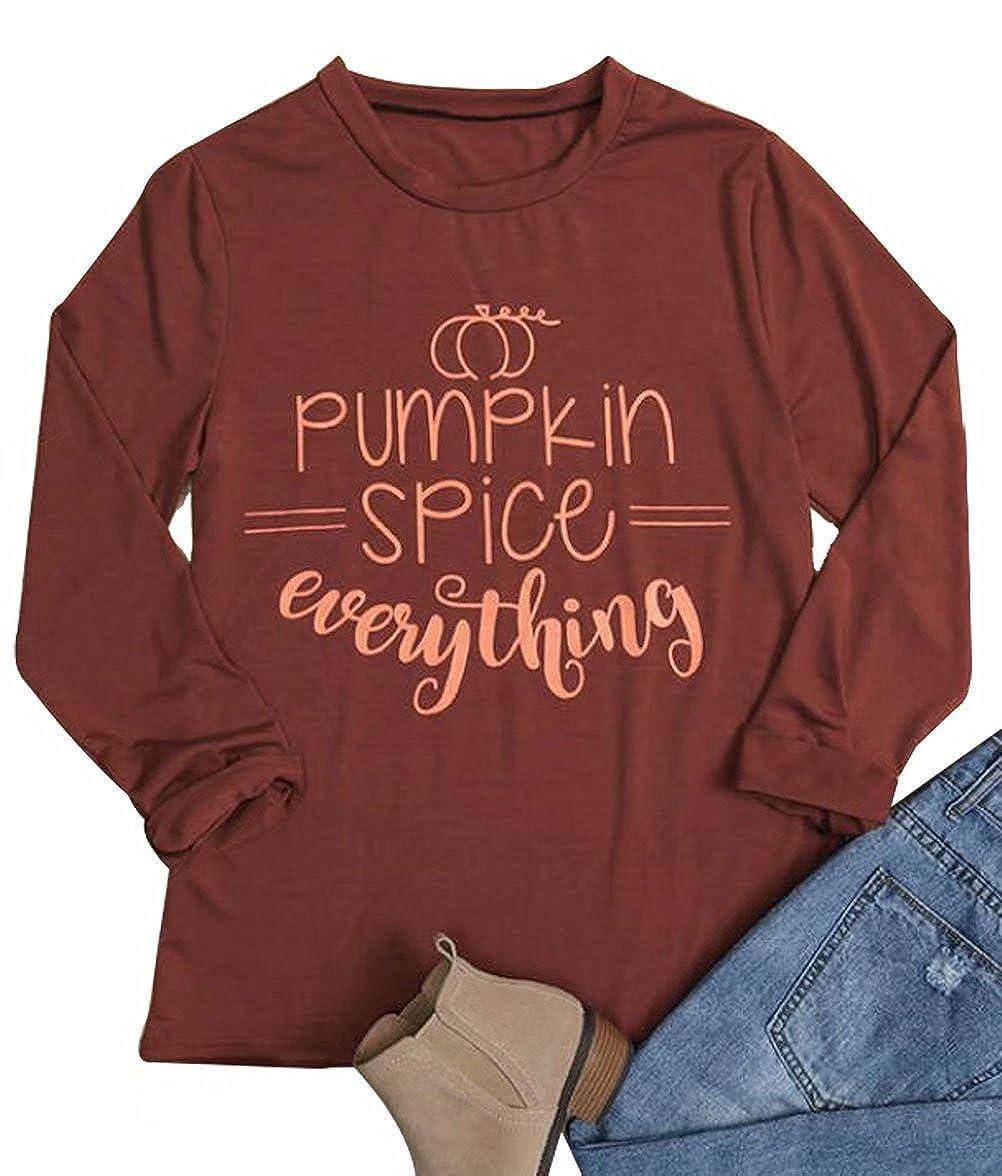 Pumpkin Spice Everything T-shirt Fall Funny Halloween Shirt Tops