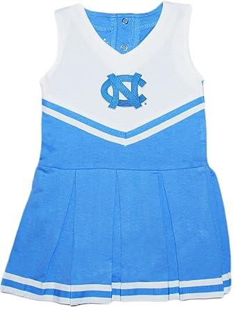 5887af21af88 Amazon.com  University of North Carolina (UNC) Tar Heels Newborn Baby  Cheerleader Bodysuit Dress  Clothing