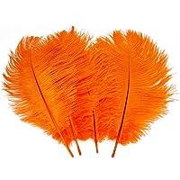 Butterme réel naturelles plumes d'autruche grandes plumes pour les chapeaux, maison, mariage, fête décoration, 15-20cm