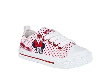 11c40ac5ff90f Baskets en toile à pois Minnie - fille - rouge  Amazon.fr ...