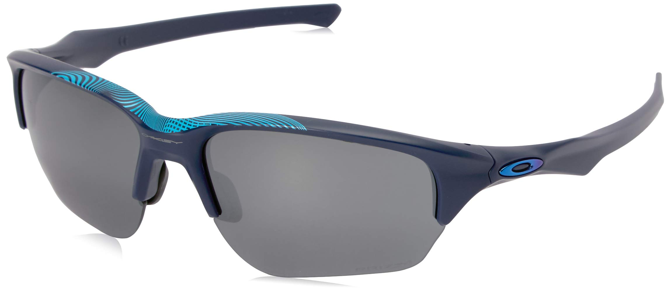 Oakley Men's Flak Beta Non-Polarized Iridium Rectangular Sunglasses, Areo Matte Navy, 64.0 mm