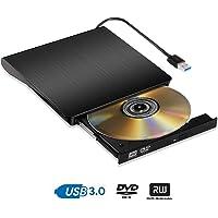 Grabadora CD DVD Externo Portátil Lector USB 3.0 Lectura Rápida Reproductor DVD/CD Externo para PC Windows7/8/10,Linux,Mac OS