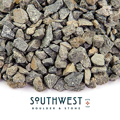 Southwest Boulder & Stone Landscape Rock and Pebble | 20 Pounds | Natural, Decorative Stones and Gravel for Landscaping, Gardening, Potted Plants, and More (Crushed Gravel, 3/8 Inch)