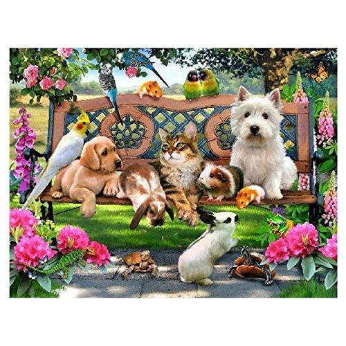 Animal Paradise 5D Diamond DIY Painting Craft Home Decor - 9