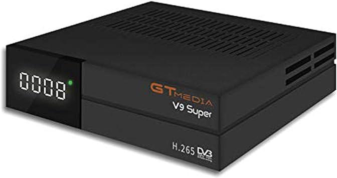 GT Media V9 Super DVB S2 Satelite Ricevitore Decodificador Oficial Freesat Digital TV Sat Receptor Soporte H.265 1080P Full HD CCcam Newcam IPTV Youtube PVR PowerVu Biss chiave, con WiFi Incorporado …: