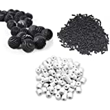 New Horizon Aquarium Accessories - Ceramic Rings 500g+Activated Carbon 500g+23 NosBioBalls with bio Cotton Inside