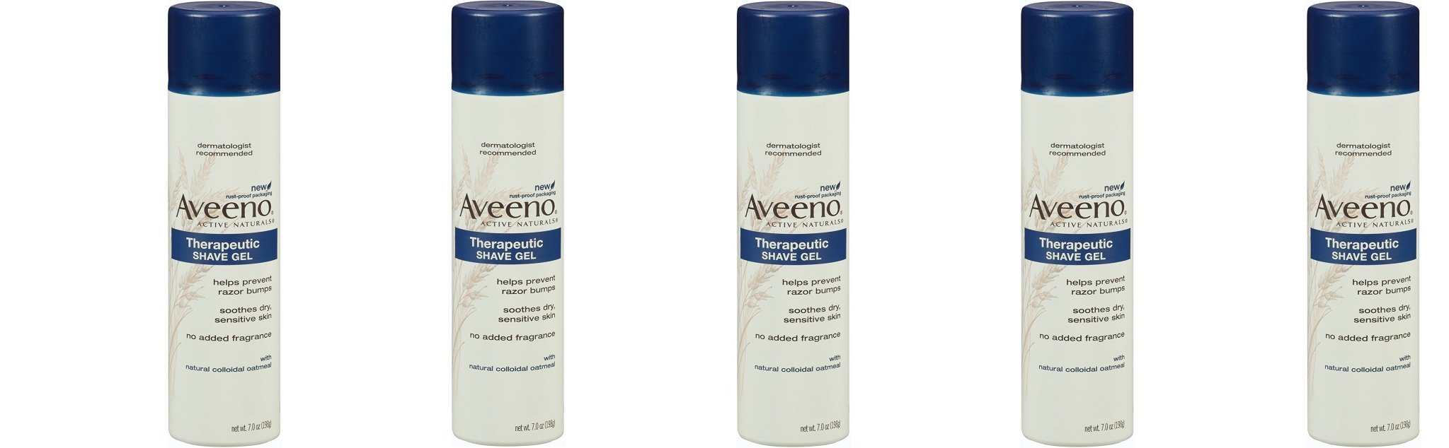 Aveeno Skin Relief Shave Gel DUezWo, 5 Pack (7 Ounce) by Aveeno