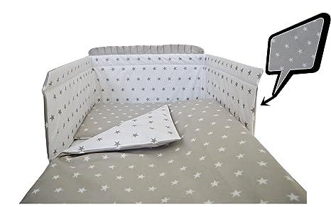 4 pcs pc navy chevron COTTON padded bumper pillowcase 3 COT BED BEDDING SET 2
