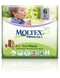 22 unidades MOLTEX Nature No1 pañales ecológicos bio oso pañales bebés XL Gr 6 (16
