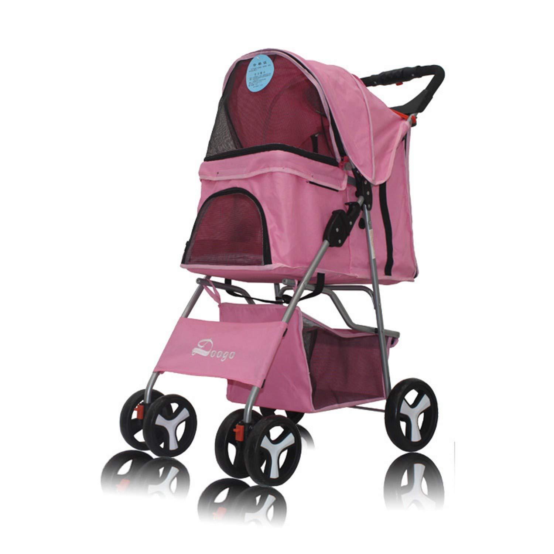 A Lightweight pet Stroller, Dog Stroller Four-Wheeled pet car (color   A)