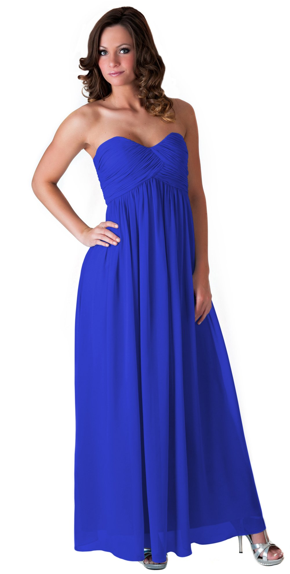Faship Womens Long Evening Gown Bridesmaid Wedding Party Prom Formal Dress,Royal Blue,12