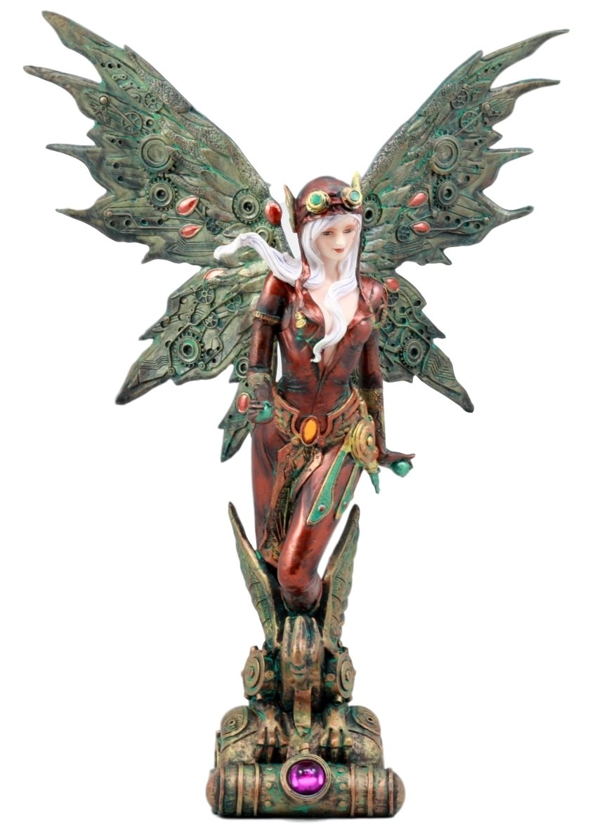 Steampunk Aviator Fairy Figurine 12