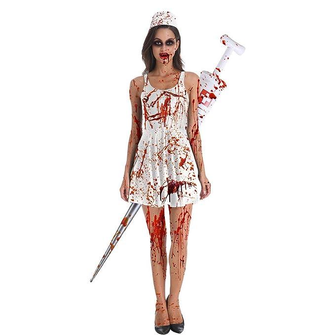 Goosun Halloween Vampiresa Reina Vestido Sin Mangas con Estampado ...