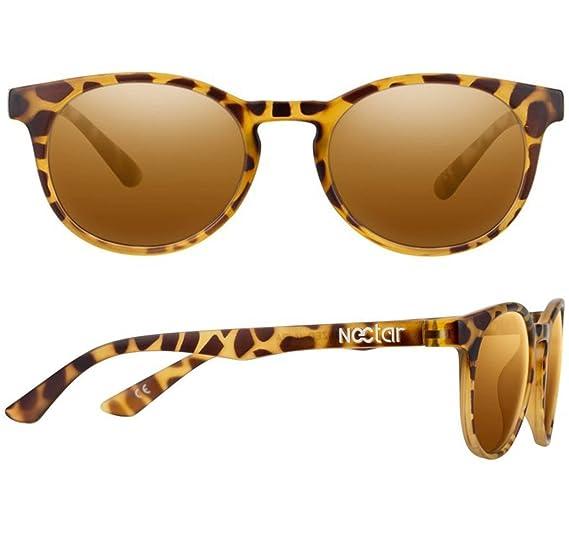 a6c64d144e Amazon.com  NECTAR Round Eye Polarized Sunglasses for Men   Women with  Glare Blocking Lenses and UV Protection (Brown Tortoise Shell Frame