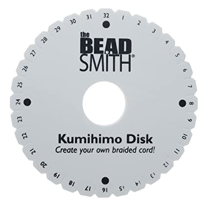 Beadsmith Kumihimo Round Disk with English Instructions, 6-Inch: Amazon.co.uk: Amazon.co.uk: