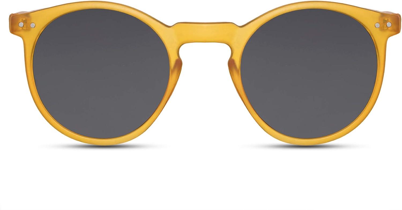 Cheapass Gafas de Sol Retro Redondos Espejados Mujer Hombre