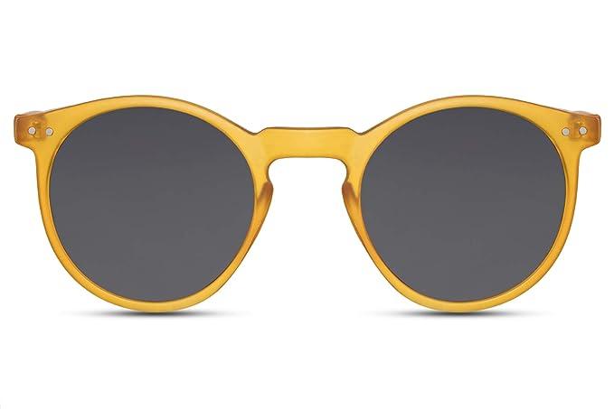 sito autorizzato stile distintivo vendita outlet Cheapass Occhiali da Sole Rotondi Opachi con una Montature Gialla con Lenti  Scure UV400 Protetti Vintage da Uomo e Donna