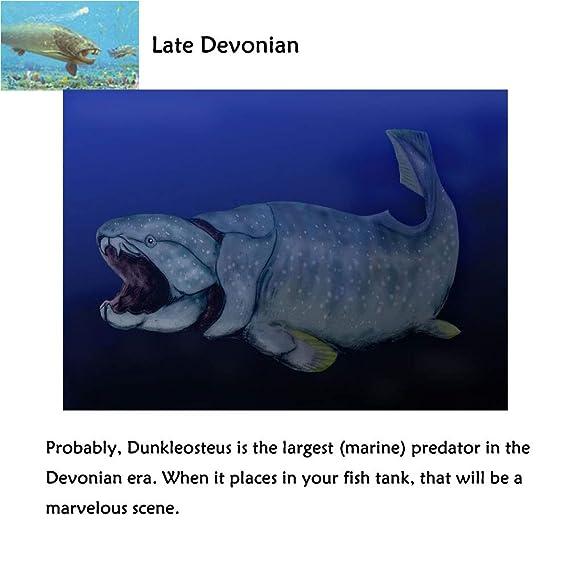 Oncpcare Dunkleosteus Decoración para Acuario, Figura de Peces de la Criatura del Devonion, Adorno de Acuario, Paisaje de pecera, Vida Marina Artificial, ...