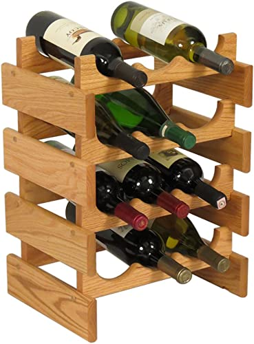 FixtureDisplays 12 Bottle Dakota Wine Rack 104480