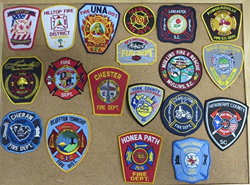SOUTH CAROLINA FIRE/RESCUE DEPARTMENT PATCHES! SET TWO! LOT OF 19!