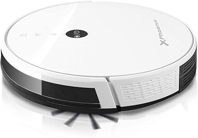 Phoenix Technologies Cleanbot360 - Robot Aspirador 4 en 1, Auto Carga, mapeo, 4 Modos de Limpieza, 2 depósitos, 1800pa de succión, programable, navegación Inteligente: Amazon.es: Hogar