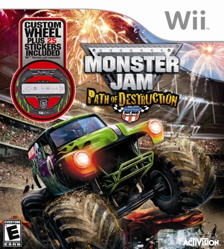 Monster Jam 3: Path of Destruction with Grave Digger Steering Wheel Peripheral - Nintendo Wii by Activision