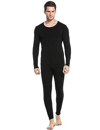 c9820771900e Ekouaer Men's Long Thermal Underwear Fleece Lined Winter Long Johns Base  Layer Set S-XXL at Amazon Men's Clothing store: