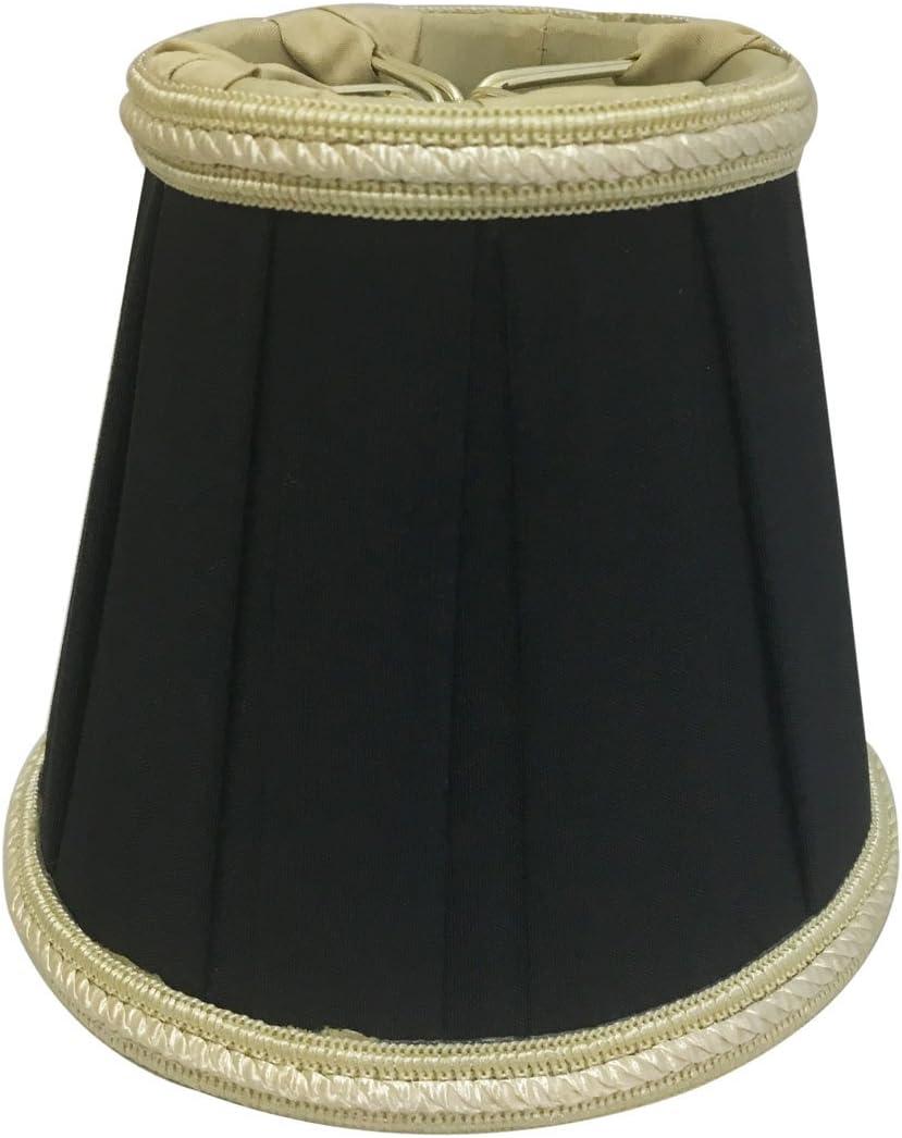 Royal Designs CS-404BLK Decorative Trim Empire Chandelier Lamp Shade, Black