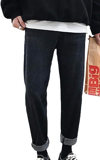 (BaLuoTe)デニムパンツ メンズ 秋 冬 ジーンズ メンズ ロングパンツ ストレート 厚手 メンズ ジーンズ ボトムス ワイド ストレッチ パンツ ファッション カジュアル