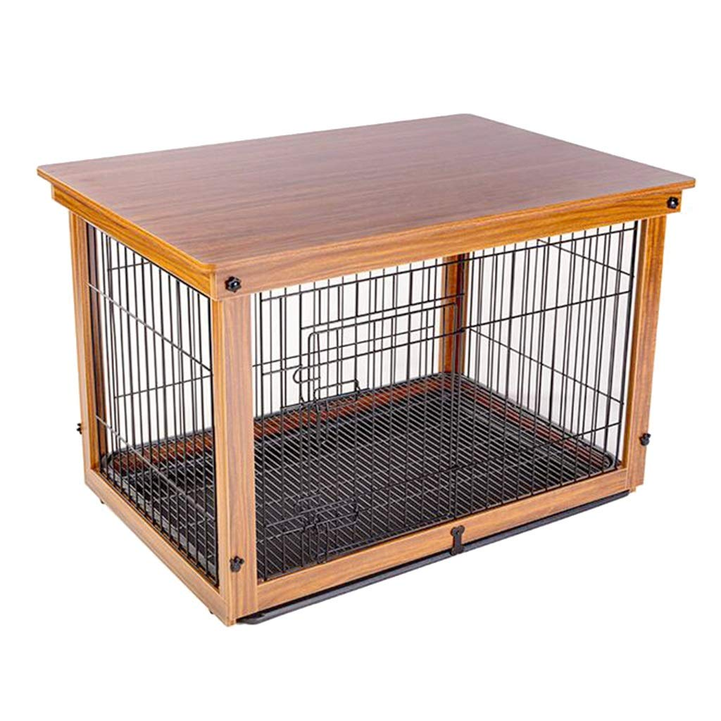Brown 645258cm Brown 645258cm Pet Supplies Pet cage Dog cage Wooden Iron Dog cage Double Indoor high-Grade Small Medium and Large Dog Fence Fence Wooden cat cage Dog cage Outdoor Strong Houses, Kennels & Pens