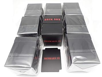 docsmagic.de 8 x Deck Box Big (100+) Black + Card Divider ...