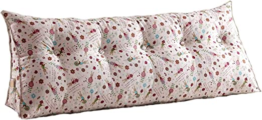 Headboard Pillow Fashion Durable Flower Patten Bedside Cushion Lumbar Backrest