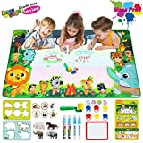 Water Drawing Mat, Extra Large Water Doodle Mat for Toddlers Aqua Magic Doodle Mat for Boys Girls Kids Ages 3 and up, Sized 59'' x 35''/150cm x 90cm (Edition #1)
