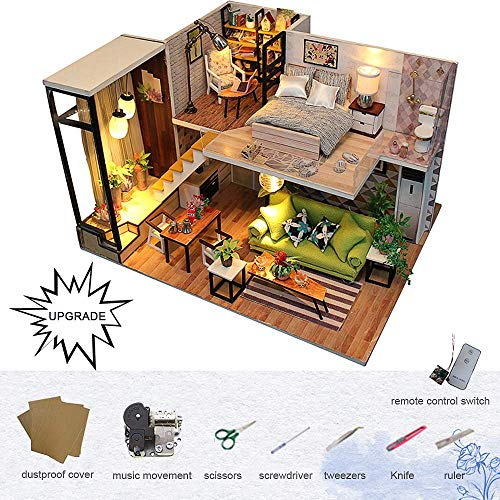 UCTOP Dollhouse Kit DIY Miniature Wooden Handmade House, used for sale  Delivered anywhere in USA