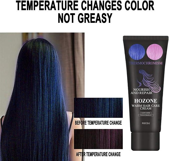 Wopohy Crema de tinte para el cabello, mágica termocromática ...