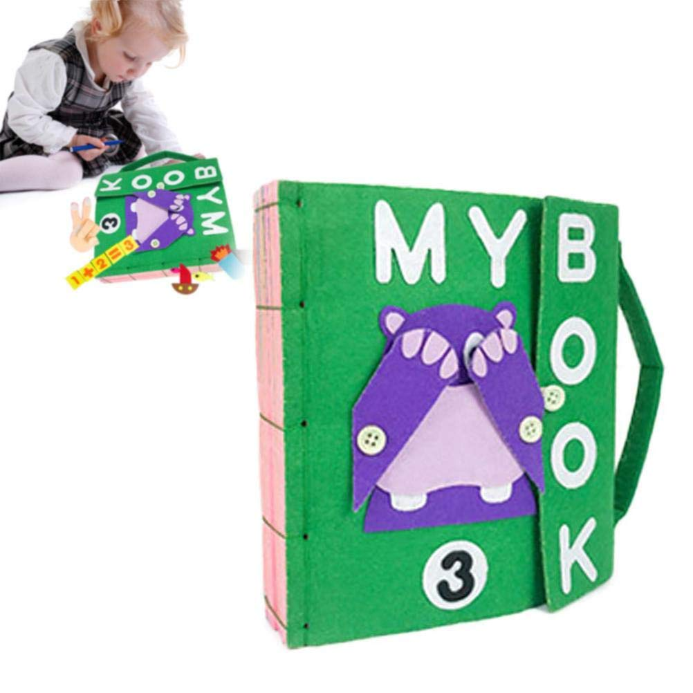 X-CRAFT Handmade Baby Book Book Felt Quiet Books Baby Early Cognitive Development Toys Handmade Educational Book for Kid Baby by X-CRAFT