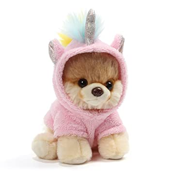 Amazon Com Gund Worlds Cutest Dog Boo Itty Bitty Boo 044 Unicorn Stuffed Animal Plush 5 Toys Games