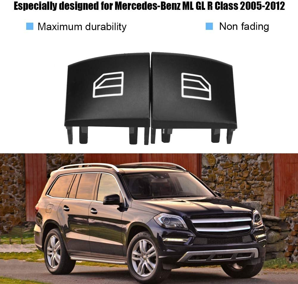 Bot/ón Ventana de reparaci/ón del Casquillo del Interruptor del Asiento del Conductor de Control para Mercedes ML GL Clase R