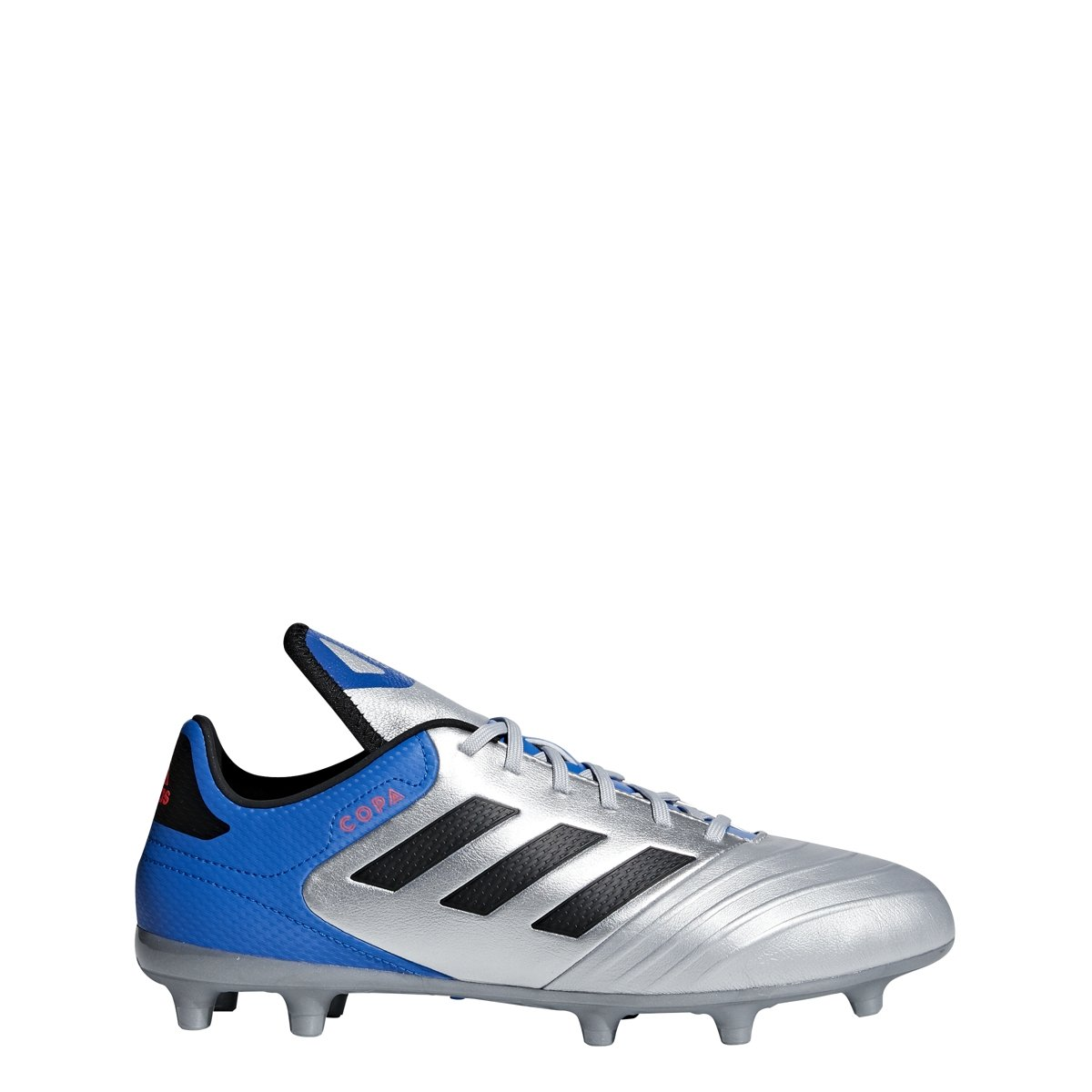 adidas Men's Copa 18.3 Firm Ground Soccer Shoe B0785FD61L 10 D(M) US|Silver Metallic/Black/Football Blue