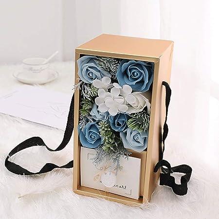 Flor de rosa artificial Jabón hecho a mano Caja de regalo de ...