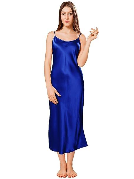 negozio online 76cfd 41249 ElleSilk 100% Seta Camicia da Notte di Donna, Chemise da Notte di Seta, 22  Momme, Anallergico