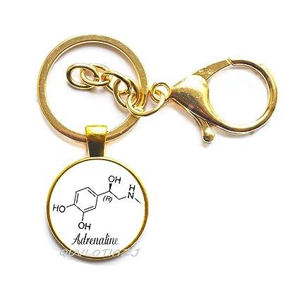 Joyería química Adrenaline Llavero Joyería Epinephrine ...